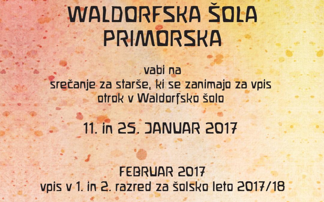Srečanje za starše v Waldorfski šoli Primorskam