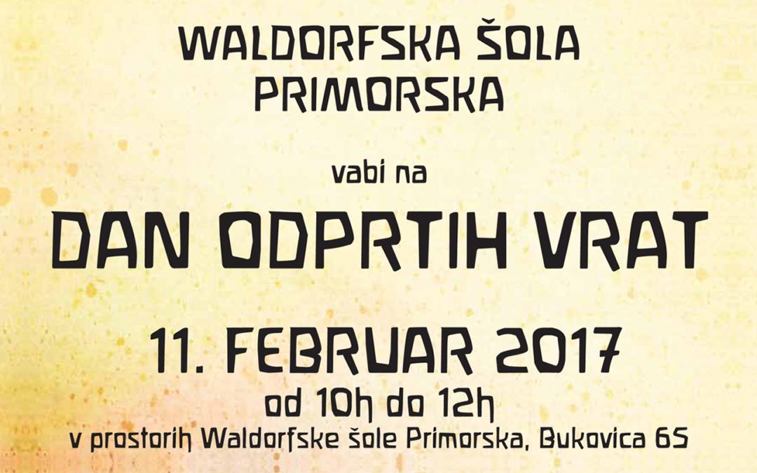 Dan odprtih vrat Waldorfske šole na Primorska